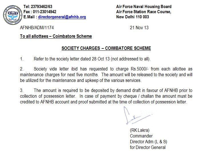 Air Force Naval Housing Board Coimbatore Scheme
