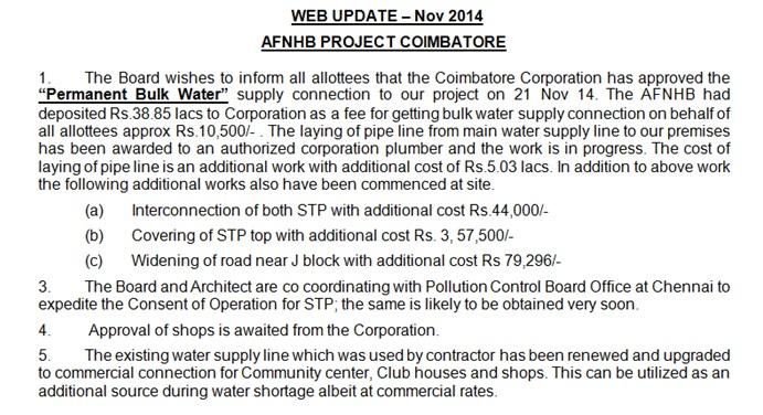 Air Force Naval Housing Board - Coimbatore Scheme