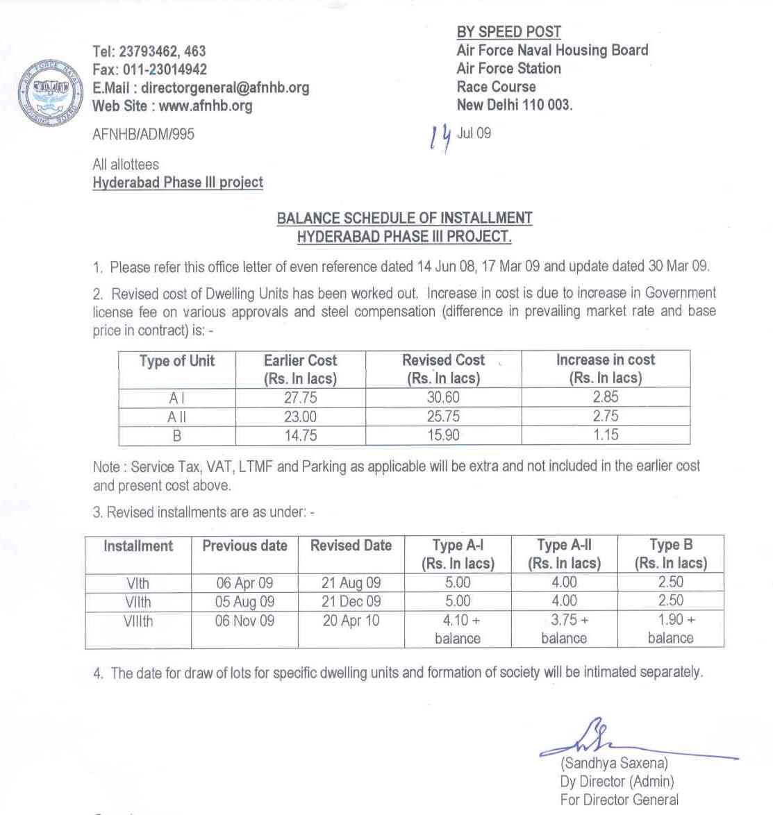 sample payment plan letter